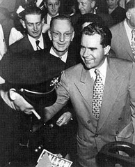 Nixon campaigning for the Senate, 1950