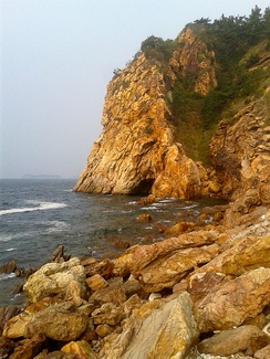 Rocky shore in Dalian, China