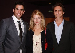 Eli Roth, Mélanie Laurent, and producer Lawrence Bender at a premiere for the film in August 2009