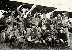 Group of aviators from São Paulo at Campo de Marte Airport in September 1932