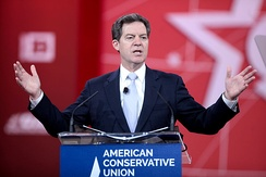 Sam Brownback speaking at the 2015 Conservative Political Action Conference (CPAC) in National Harbor, Maryland on February 27, 2015