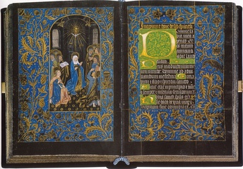 Black Hours, Morgan MS 493, Pentecost, Folios 18v, c 1475-80. Morgan Library & Museum, New York