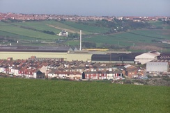British Steel's Skinningrove Works dominate this view of Carlin How