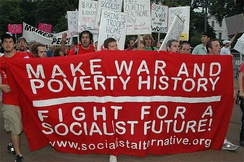 Socialist Alternative members in the United States at an antiwar march in 2007