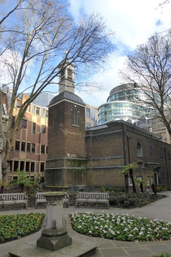 St Botolph's, Aldersgate as seen from Postman's Park