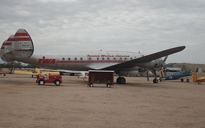A Trans World Airlines L-049 Constellation on display at the Pima Air & Space Museum.