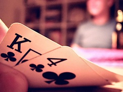 Texas hold'em is a game of imperfect information, as players do not know the private cards of their opponents