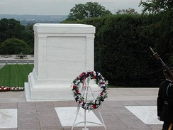 The Tomb of the Unknowns located in Arlington National Cemetery