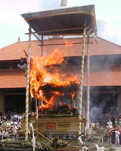 An Ubud cremation ceremony in 2005