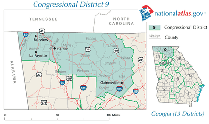Georgia's 9th congressional district in 2010