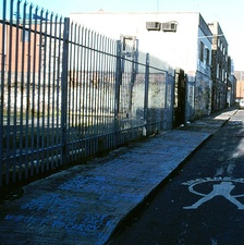 In 1994, a fan wrote the song's lyrics on the sidewalk leading up to Windmill Lane Studios in blue chalk.