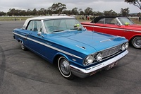 1964 Ford Fairlane 500 Sports Coupe.  This example from Australia was modified to a right-hand drive model.