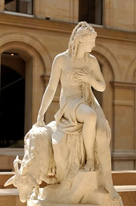 Amalthée et la chèvre de Jupiter (Amalthea and Jupiter's goat); commissioned by the Queen of France in 1787 for the royal dairy at Rambouillet