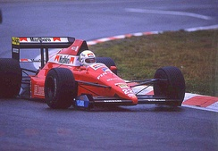 De Cesaris at the 1989 Belgian Grand Prix