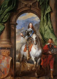 Charles I with M. de St Antoine by Anthony van Dyck, 1633