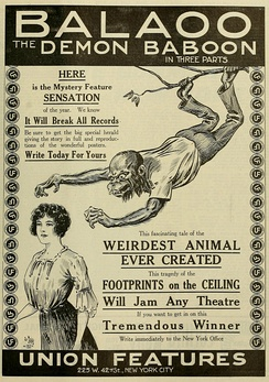 Poster of the film adaptation of Balaoo in 1913