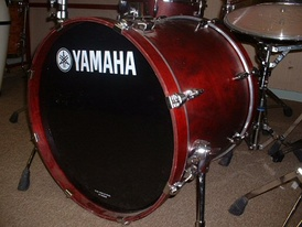 A drum kit bass drum