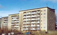 East German Plattenbau apartment blocks