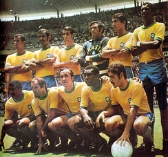 The 1970 FIFA World Cup-winning Brazil team, considered by many distinguished commentators as the greatest association football team ever