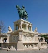King Saint Stephen's sculpture in Buda Castle