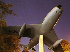 F-86 Sabre monument at the Royal Military College of Canada in Kingston, Ontario
