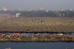 The huge Ijtema tent on the banks of the River Turag near Dhaka