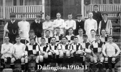 The Darlington team of the 1910–11 season, who reached the last 16 of the FA Cup
