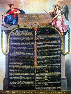 The principles from the French Declaration of the Rights of Man and of the Citizen still have constitutional importance