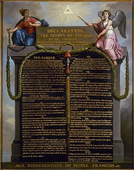 An illustration of the Declaration of the Rights of Man and of the Citizen
