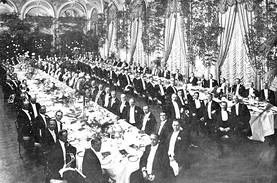 Banquet for Elbert Henry Gary, a founder of US Steel (1909)