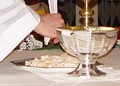 Large modern chalice and paten