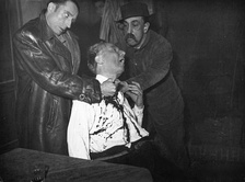 A scene from the Grand Guignol, a format some critics have cited as an influence on the slasher film