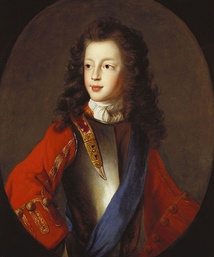 James Francis Edward, about 1703, portrait in the Royal Collection attributed to Alexis Simon Belle