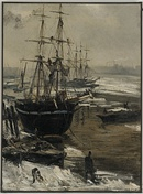 The Thames in Ice, 1860; oil on canvas