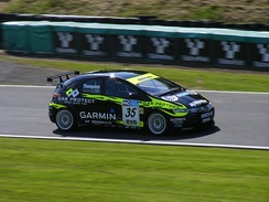 Thompson competing in the fourth event of the 2009 British Touring Car Championship season at Oulton Park.