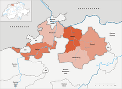 districts of Canton Basel-Landschaft