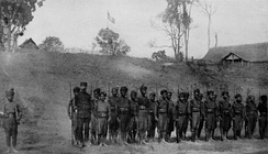 Local Lao soldiers in the French Colonial guard, c. 1900