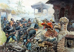Dutch intervention in Lombok and Karangasem against the Balinese in 1894.