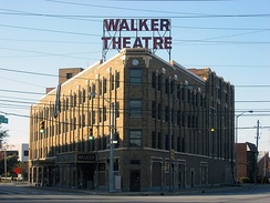 Madame Walker Theatre Center opened on Indiana Avenue in 1927 as a cultural center for the city's African American community.[187]