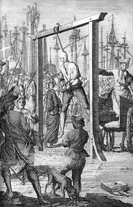The hanging of Stede Bonnet in Charleston, 1718
