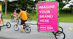 Mobile billboard in East Coast Park, Singapore