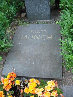 Munch's grave at the Cemetery of Our Saviour, Oslo