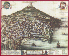 Picture of Catania in 1575
