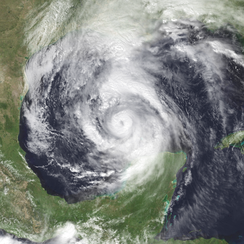 Hurricane Opal rapidly intensifying in the Gulf of Mexico on October 3