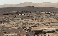 Sedimentary rocks on Mars, investigated by NASA's Curiosity Mars rover