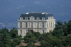 The Château de la Punta in Corsica which was partially built with stones from the Tuileries