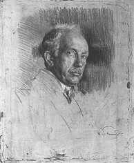 Richard Strauss engraved by Ferdinand Schmutzer (1922)