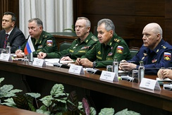 Defense minister Sergey Shoygu Meeting with UN officials to discuss the situation in Syria (2017)