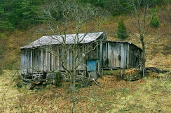 A large shack near Pigeon Forge, Tennessee