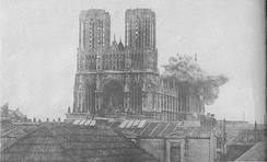 German shelling of Reims Cathedral early in the First World War